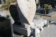 Nowoczesny Pomnik nagrobny z rzeźbionym Aniołem w piaskowcu