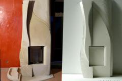 Projekt oraz realizacja nowoczesny kominek