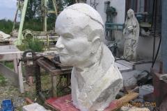 Popiersie podobizna z gipsu Jan Paweł II