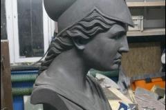 Piekna niepowtarzalna Atena rzezba model z gliny5