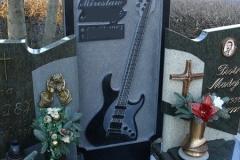 Rzezba w kamieniu gitara elektryczna
