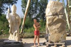Rzezba w kamieniu Jan Pawel II